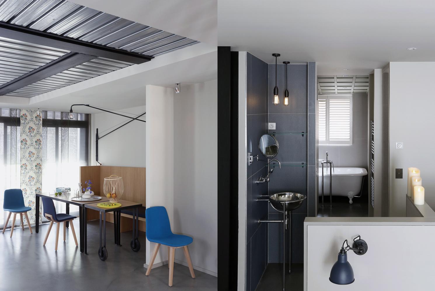 Projet Batignolles - Séjour et salle de bains