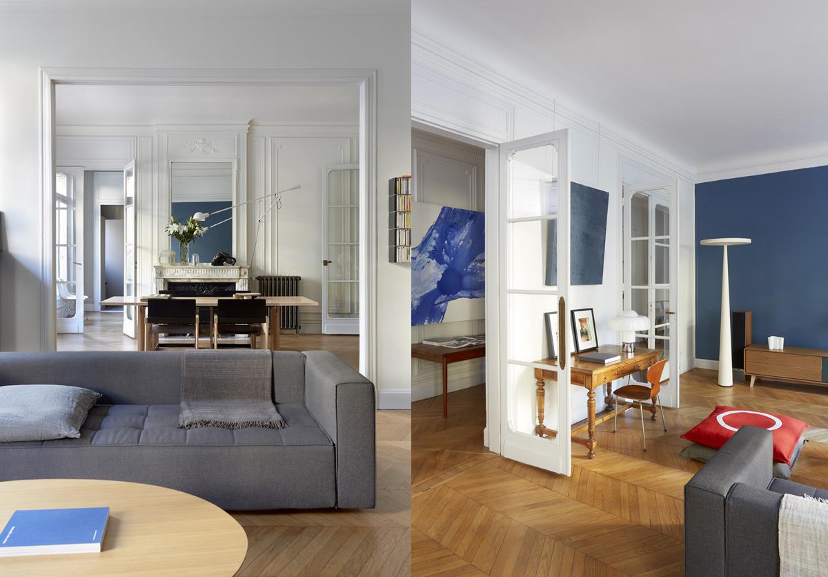 Projet Wagram - Le salon et le bureau